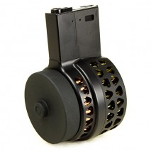 IRON AIRSOFT - X-15 Style Electric Drum Magazine M4 AEG (1000 rounds)