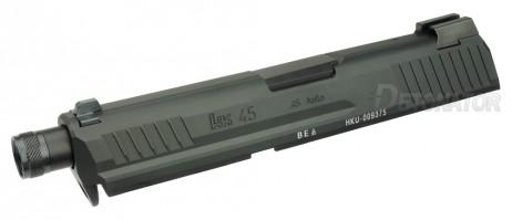 DETONATOR - H&K HK45 Tactical Custom Slide BLACK For Tokyo Marui HK45 GBB