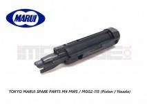 Tokyo Marui Spare Parts M4 MWS / MGG2-115 (Piston / Nozzle)