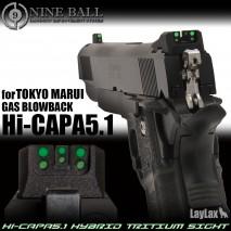 LAYLAX/NINE BALL - Tokyo Marui HiCapa 5.1 GBB Hybrid Tritium Sight