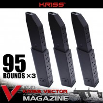 KRYTAC - KRISS VECTOR Spare 95 Rounds Magazine (3 magazines set)