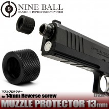 LAYLAX/NINE BALL - 13mm Muzzle Thread Cover for 14mm CCW Threaded Barrel