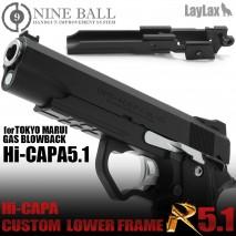 LAYLAX/NINE BALL - Tokyo Marui Hi-capa5.1 GBB Custom Lower Frame R 5.1