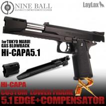 LAYLAX/NINE BALL - Tokyo Marui Hi-capa5.1 GBB Custom Lower Frame R 5.1 EDGE + Compensator