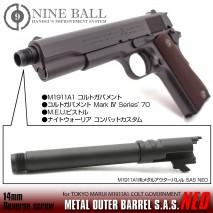 LAYLAX/NINE BALL - Tokyo Marui M1911A1 Metal Outer Barrel SAS NEO