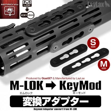 LAYLAX / Nitro.Vo - M-LOK to Keymod Adaptor