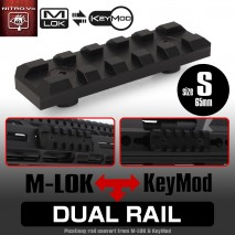 LAYLAX / Nitro.Vo - Dual Rail S Short 65mm Picatinny Rail for Keymod & M-lok