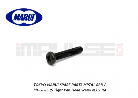 Tokyo Marui Spare Parts MP7A1 GBB / MGG1-16 (S Tight Pan Head Screw M3 x 16)