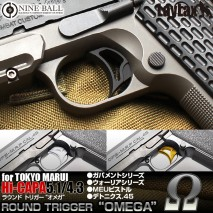 LAYLAX/NINE BALL - Round Trigger OMEGA for Tokyo Marui HiCapa 5.1 & Government 1911 Model