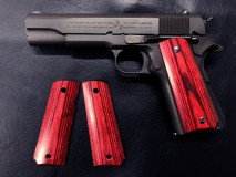 PANDORA ARMS - Wood Grip Government / 45 AUTO Smooth Red