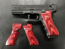 PANDORA ARMS - Wood Grip Glock 17/18C Smooth Red