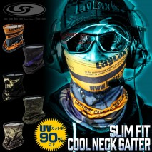 LAYLAX/SATELLITE - Cool Neck Gaiter WAR IS OVER TAN