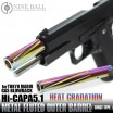 LAYLAX/NINE BALL - Hi-Capa 5.1 Metal Fluted Outer Barrel Twist Type Heat Gradation