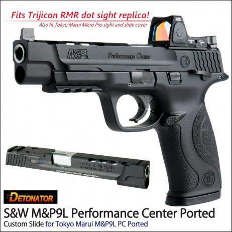 DETONATOR - S&W M&P9L Performance Center Ported Custom Slide Tokyo Marui M&P9L PC Ported GBB